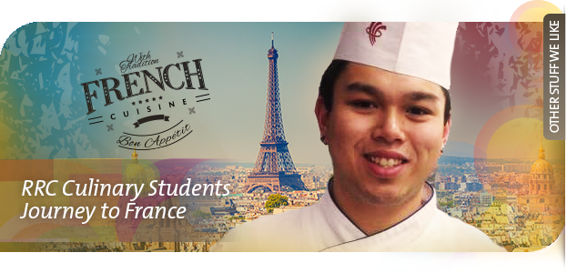 Culinary Art students, Alex Wong and Nicole Boudreau, were chosen to be the first Canadians to attend an intensive four-month culinary training program in France.