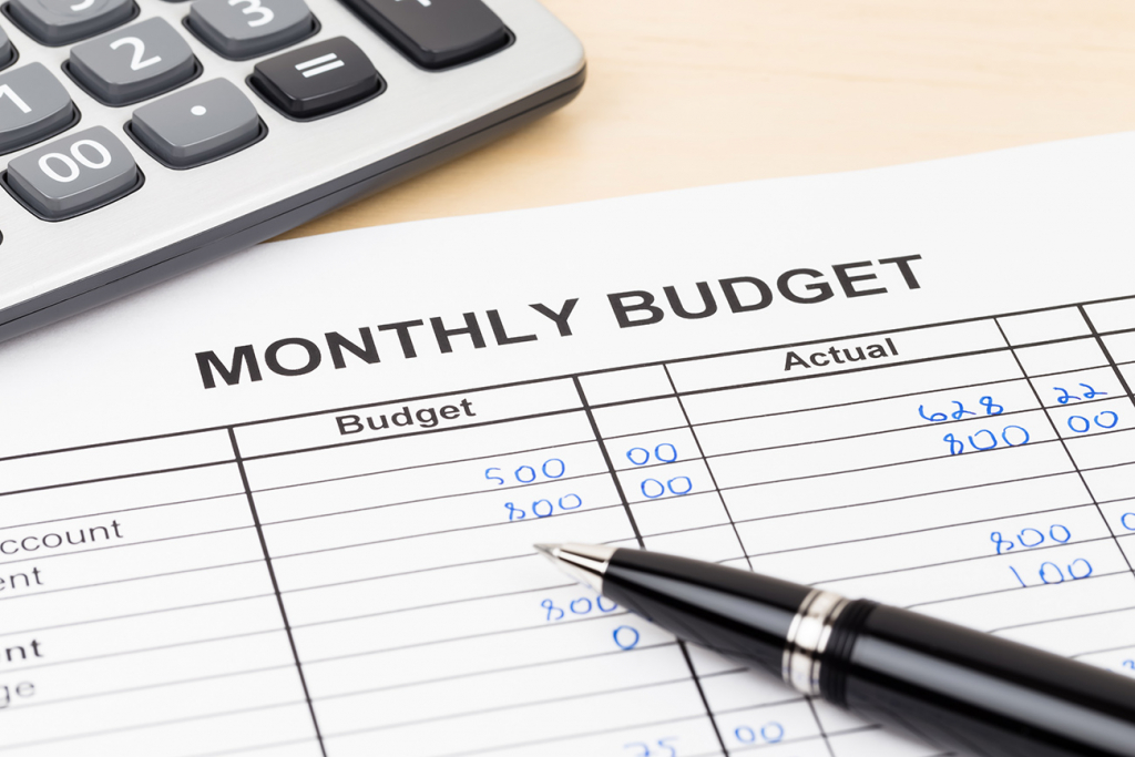 Make a monthly budget - secret budget tips