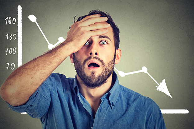 manage emotions while investing - worried investor