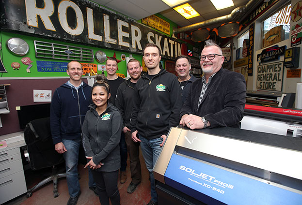 The team at SRS Signs in Winnipeg