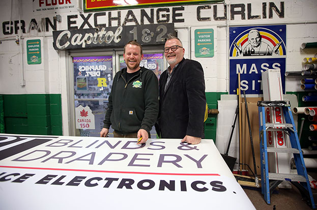 In the shop at SRS Signs